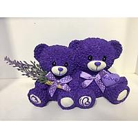 Tượng gấu tình nhân Lavender