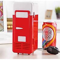 Tủ lạnh nhỏ tự động tiện ích nóng lạnh, có thể làm lạnh đồ uống, mặt nạ, mỹ phẩm dưỡng da,...  tích hợp đèn LED