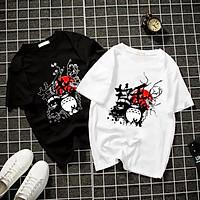 Áo thun Nam Nữ Không cổ GẤU TRÚC PU PO CIMT-0012 mẫu mới cực đẹp, có size bé cho trẻ em / áo thun Anime Manga Unisex Nam Nữ, áo phông thiết kế cổ tròn basic cộc tay thoáng mát