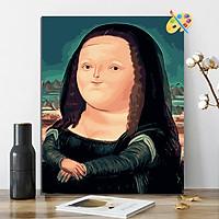 Tranh sơn dầu số hóa Monalisa béo 269