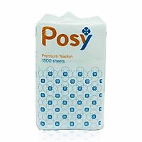 Khăn Giấy Ăn Dạng Rút Posy Premium 2 Lớp 1500 Tờ (100x200)