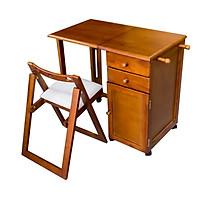 Bộ bàn học sinh xếp gọn có hộc tủ Hi Furniture