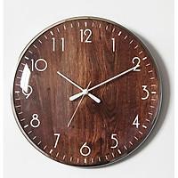 Đồng hồ treo tường vân gỗ - khung kim loại sang trọng - HÀNG LOẠI 1