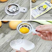 Combo Dụng Cụ Tách Lòng Đỏ Trứng Inox + Hộp Thủy Tinh Đựng Thực Phẩm Có Nắp 250ML - Nội Địa Nhật Bản