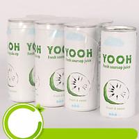 Nước ép mãng cầu từ trái cây tươi YOOH- Lốc 6 lon (240ml/lon)