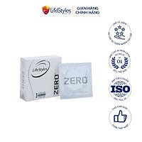 Bao cao su LifeStyles Zero làm từ cao su thiên nhiên cao cấp siêu mỏng truyền nhiệt tốt cho cảm giác chân thật ( 3 Bao / Hộp ) - Xuất xứ Úc ( Hàng Chính Hãng )