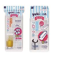Combo 02 Khay nhựa làm đá đa dụng Kokubo - Nội địa Nhật Bản (01 khay 8 thanh dài + 01 khay 84 viên mini)