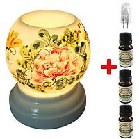 Đèn xông tinh dầu  MNB10 và 3 tinh dầu sả chanh Eco 10ml và 1 bóng đèn