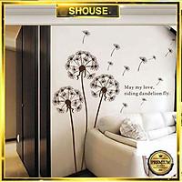 Decal Dán Tường Phong Cảnh Thiên Nhiên T11 Hoa Lá cỏ cây 3d Shouse phòng khách, phòng ngủ hình bông hoa khổ lớn giấy tranh dán cửa kính phòng ngủ