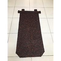 Đệm khoác vai ghế ô tô hạt gỗ Trắc bóng cao cấp loại hạt 1,2cm - Loại 1
