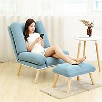 Ghế sofa thư giãn kèm đôn - Ghế sofa ngủ văn phòng, ghế là spa GHR-008 quay 180 độ