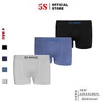 Combo 3 Quần Lót Nam Boxer 5S,  Cạp To, Thấm Hút, Co Giãn, Kháng Khuẩn Cực Tốt (X3-SIP21011BOX).