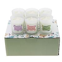 Set cốc nến thơm thủy tinh mini 6pcs
