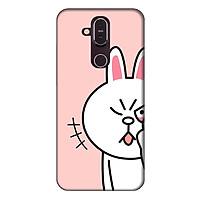 Ốp lưng dành cho điện thoại Nokia 8.1 Thỏ Trắng làm Duyên