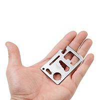 Miếng Thép Đa Năng 11 Công Dụng Thẻ Phượt Đa Năng - Steel Credit Card Survival Tool (Màu Bạc)