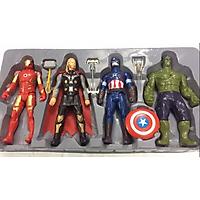 Bộ đồ chơi 4 nhân vật búp bê Avengers bổ sung cho trò chơi Biệt đội siêu anh hùng, kích thước to đại khổng lồ 30cm, có đèn sáng (giao mẫu ngẫu nhiên)