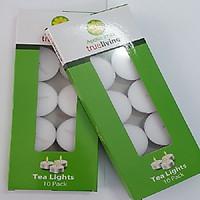 Hộp 10 viên nến tealight cháy 4h không mùi, không khói