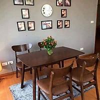 Bộ bàn ghế phòng ăn 4 ghế Mango màu nâu - BA05