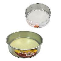 Combo 2 rây lọc bột/thức ăn bằng inox nhỏ & lớn  (nhỏ 13.5cm, lớn 15.4cm)