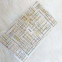 Sticker nails họa tiết sọc tráng gương - hình dán móng 3D F662