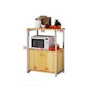 Kệ bếp đa năng 170-1 loại 2 tầng để được lò vi sóng lò nướng nồi cơm điện khung thép sơn tĩnh điện chống bong tróc, hàng được sản xuất tại Việt Nam
