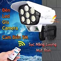 Đèn Cảm Biến Năng Lượng Mặt Trời Chống Nước Đèn Led Giả Camera Chống Trộm Tiết Kiểm Điện Cảm Ứng xa 5m