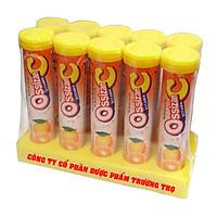 Combo 10 túyp sủi vitamin Ossizan C vị cam giúp bổ sung năng lượng, tăng sức đề kháng