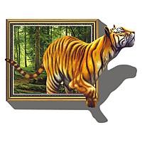 Decal Dán Tường Hổ 3D Binbin PK31 (100 x 70 cm)