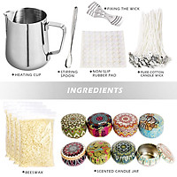 Diy  Candle Making Kit Supplies Complete Beginners Candles Craft Tools Pouring Pot Candle Wicks Beeswax