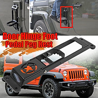 Door Hinge Side Foot Pedal Step Metal Solid Steel For Jeep Wrangler JK 2007-2017