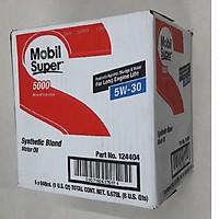 Thùng 6 chai nhớt động cơ đốt trong Mobil super 5W30 (6 chai x 946 ml) - Dầu nhớt Mobil nhập khẩu từ Mỹ