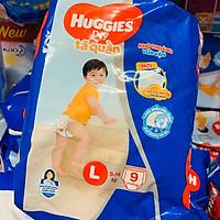 Tã/bỉm quần Huggies Size L9 (9 miếng cho bé 9-14kg) - HSD luôn mới