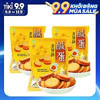 Combo 3 Túi Bánh quy trứng muối Đài Loan 180gr