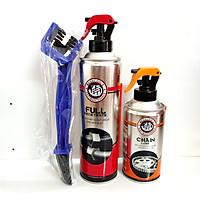 Combo bảo dưỡng sên Megacools rửa sên 500ML+dưỡng sên 300ml  tặng bàn chải vệ sinh sên