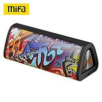 Loa Bluetooth MIFA A10 âm lượng cao nhỏ gọn có thể kết nối trong xe hình Graffiti màu đỏ