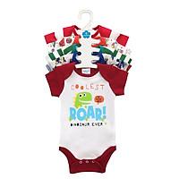 Set 5 Áo Liền Quần Tay Ngắn Cho Bé Trai Baby Wear ( Màu Ngẫu Nhiên )