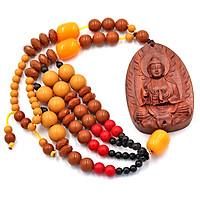 Dây treo Phong thủy Phật Quan âm gỗ DQA2