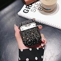 Bao Case Silicon Cho Tai Nghe Apple Airpods Đính Đá Thời Trang Bảo Vệ Chống Sốc Cho Airpod CV112