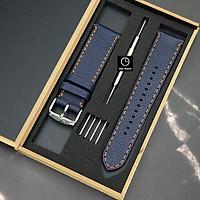 Dây Da Thay Thế Dành Cho Đồng Hồ Fossil Casio Samsung Huawei Da Bò Thật Dây Handmade - Tặng Kèm Chốt Và Dụng cụ thay