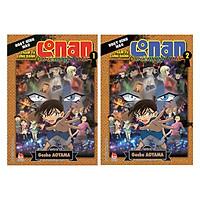 Combo Thám Tử Lừng Danh Conan – Hoạt Hình Màu - Cơn Ác Mộng Đen Tối ( Bộ 2 Tập) - Tặng Kèm Móc Khoá
