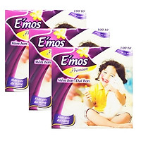 Combo 3 gói khăn giấy đa năng Emos 240mm size nhỏ ( 100 tờ / gói )