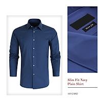Áo sơ mi Slim Fit Shirt Blamor form ôm chất liệu lụa cao cấp hàng vnxk_ASM034