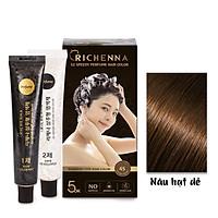 Gội nhuộm phủ bạc thảo dược  Richenna EZ Speedy Perfume Hair Color hương nước hoa màu nâu hạt dẻ 60G