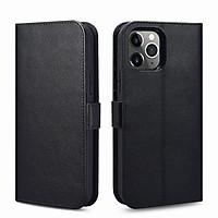 Ốp lưng / bao da 2 trong 1 iPhone 12 Pro Max iCarer Nappa leather Wallet (6.7 inch) - Hàng chính hãng