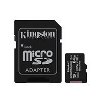 Thẻ nhớ micro SDXC Kingston 64GB Canvas Select Plus upto 100MB/s Adapter - Hàng Chính Hãng