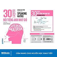 Sách - 30 Giây Nói Tiếng Anh Như Gió - Speaking Matrix - Học Qua App Online