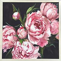 Tranh sơn dầu vẽ tay Hoa mẫu đơn OP007