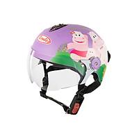 Mũ Bảo Hiểm Andes Trẻ Em Có Kính - 3S108SK Tem Nhám S100