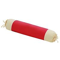 Gối ôm 30x90 cm cotton xốp màu Hometex - Màu hồng cánh sen