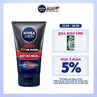 Sữa Rửa Mặt NIVEA MEN Detox Mud Bùn Khoáng Giúp Giảm Mụn & Hư Tổn Da (100G) - 83940